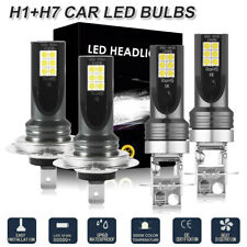 2 Pairs LED H1 H7 High/Low Beam Headlight Bulbs Set FOR Opel Astra H LD2172