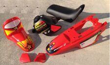 New PW 50 Plastics Plastic Kit Tank Seat Fenders Red Rockstar Graphic Stickers
