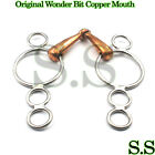 Original Wonder Bit Copper Mouth Stainless Two Piece Snaffle New BT-0031