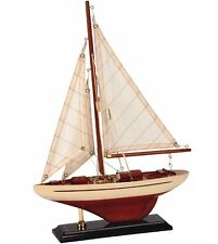 Americas Cup Wooden Model J Class Racing Yacht Cream 24cm