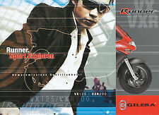 Gilera Runner VX VXR Prospekt 2003 brochure scooter Broschüre Motorroller Italia