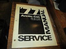 Arctic Cat Factory Snowmobile Service Manual 1977 Jag 0153-121
