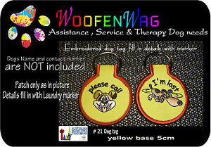 K9 Embroidered   DOG TAG  -  Key Ring