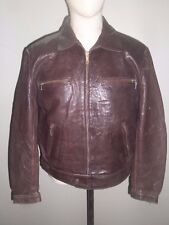 EARLY 80's MONTGOMERY SPORT MOTORCYCLE LEATHER JACKET Sz S EXCELLENT CONDITION