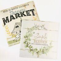 Farmers Market 2021 Calendar Farmhouse Paper Crafting   eBay
