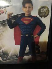 Superman Justice League Child Size Costume 8-10 Medium Muscle Chest Suit