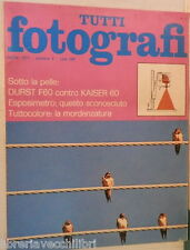 TUTTI FOTOGRAFI N 4 Aprile 1975 Durst F60 Kaiser 60 Esposimetro Hasselblad TTL