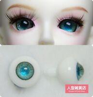 12mm For BJD DOD AOD MK OK RD Doll Dollfie Glass Eyes Outfit blue 53