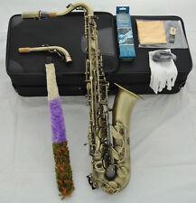 Prof. Antique C Melody saxophone Abalone shell key + 2 necks