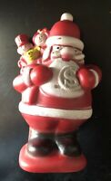 Vintage Santa Bank 1972 Vintage Hard Rubber Santa Claus Bank