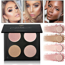 4 Colors Face Powder Palette Glow Stick Highlighter Bronzer Makeup Cosmetics Kit