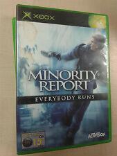 * Original Xbox Game * MINORITY REPORT EVERYBODY RUNS * X Box