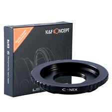 K&F Concept Adapter for C Mount Lens to Sony NEX E NEX-5 NEX-3 NEX7 C3 VG20 VG10