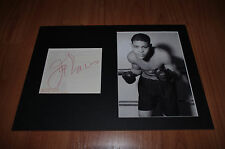 JOE LEWIS signed 8x12 inch autograph Passepartout InPerson 1966 in Germany RARE