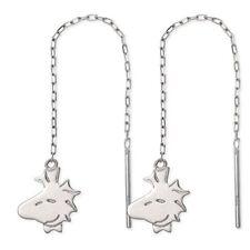 New[Sunupi] Snoopy White Gordes Earrings Gpq20033