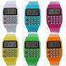 Unisex Kids Silicone Multi-Purpose Date Time Electronic Wrist Calculator Watch