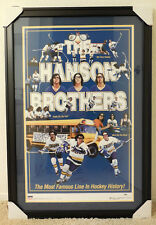 """(SSG) HANSON BROTHERS Signed by all Three Framed """"Slapshot"""" Poster - PSA/DNA COA"""