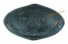 Plaque en fonte COMICE AGRICOLE 1er Prix élevage French cow farm iron cast plate