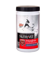 Nutri-Vet Hip & Joint Advanced Strength Chewable Tablets for Dogs, 300 Count