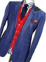 BNWT MENS TED BAKER DEBONAIR LONDON TONIK ROYAL BLUE SUIT JACKET BLAZER 42R