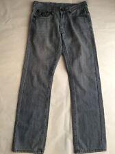 True Religion Rainbow Billy Gray Denim Jeans Men's Size W33 x L32 Made In USA