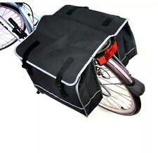 LARGE DOUBLE BIKE BICYCLE REAR RACK PANNIER BAG WATERPROOF CYCLE CARRIER NEW UK