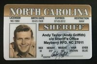 Sheriff Andy Taylor Mayberry NC Novelty Sheriff Andy Griffith License TV Show