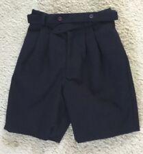 Navy Blue Shorts Boys Size 3 With Button Belt Classy/Dressy