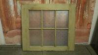 CS50 (32 x 28 1/2) Period Pine Old Cupboard Door with Acid Etched Glass Panels