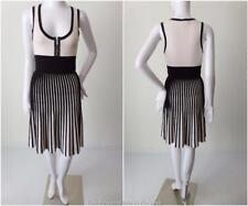 KAREN MILLEN Size 2 AU 8 US 4 Sleeveless Pleated Knit Dress