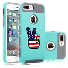 For iPhone SE 5s 6 6s 7 Plus Shockproof Hard Case Cover Peace Sign American Flag