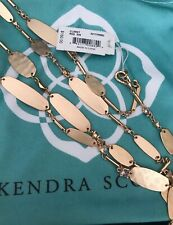 NWT Kendra Scott Claret Rose Gold Long Necklace $160.00