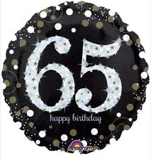 "Happy 65th Birthday 18"" Anagram Balloon Birthday Party Decorations"