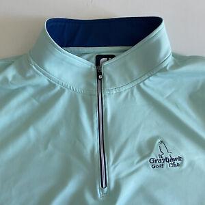 Footjoy FJ Mens XXL Teal Longsleeve 1/4 Zip Grayhawk Golf Club Pullover