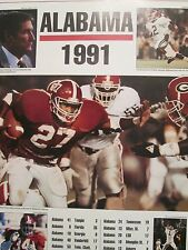 ALABAMA FOOTBALL 1991 POSTER SIRAN STACY AND GENE STALLING BHAM POST HERALD