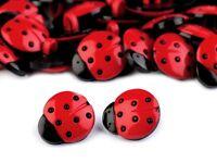 5 Knöpfe Knopf  Kinderknöpfe Kinderknopf Marienkäfer Ladybug Käfer rot 17 mm
