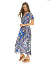 Boho Casual Dresses for Women with Buttons