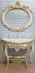 Quadro cornice ovale da parete Chiara avorio oro entratina soggiorno arredo
