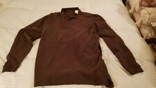NWT Eddie Bauer Mens XL Brown Long Sleeve Collared Polo Jersey