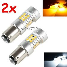 2XHigh Power 1157 Dual-Color Switchback 28-SMD LED Turn Signal Bulbs New