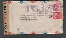 Venezuela Wwii register censor cover Caribbean Petroleum to Petty San Antonio Tx