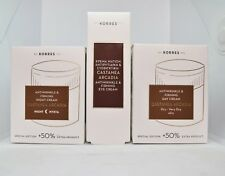 Korres Castanea Arcadia Set Day Cream-Night Cream-Eye Cream Dry Very Dry Skin