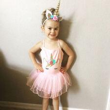 Unicorn Girl Tutu Dress Dresses (2-16 Years) for Girls