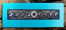 New listing 5 Handmade Total Solar Eclipse Cards Block Print Linocut Sun Annual 2017 Gold