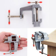 "Mini Aluminum 3.5"" Small Jewelers Hobby Clamp On Table Bench Vise Tool Vice New"