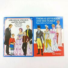 President Lincoln/ Jefferson And Family Paper Doll Books
