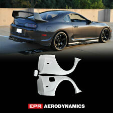 For 93-98 TOYOTA Supra MK4 JZA80 FRP Unpainted RID Style Rear fender Mudguards