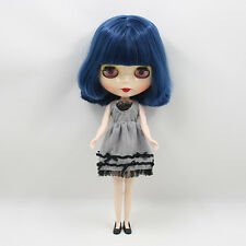 """12"""" Neo Blythe Doll Dark  Blue Hair Factory Nude Doll from Factory JSW77003"""