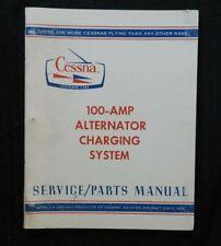 GENUINE 1976-79 CESSNA AIRPLANE 100-AMP ALTERNATOR SERVICE & PARTS MANUAL NICE