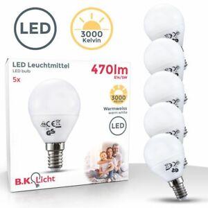 Ampoule LED E14 ampoule d'économie d'énergie 5W forme ronde Set de 5
